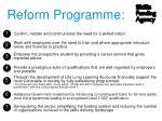 reform programme