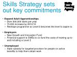 skills strategy sets out key commitments