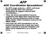 afp aoc coordination spreadsheet66