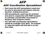 afp aoc coordination spreadsheet67