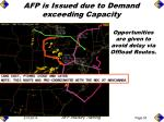 afp is issued due to demand exceeding capacity49