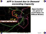 afp is issued due to demand exceeding capacity51