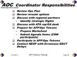 aoc coordinator responsibilities