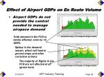 effect of airport gdps on en route volume