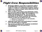 flight crew responsibilities