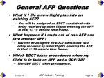 general afp questions