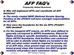 q who will implement afps and coordinate all afp decisions