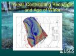 areas contributing recharge and age of water