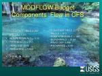 modflow budget components flow in cfs