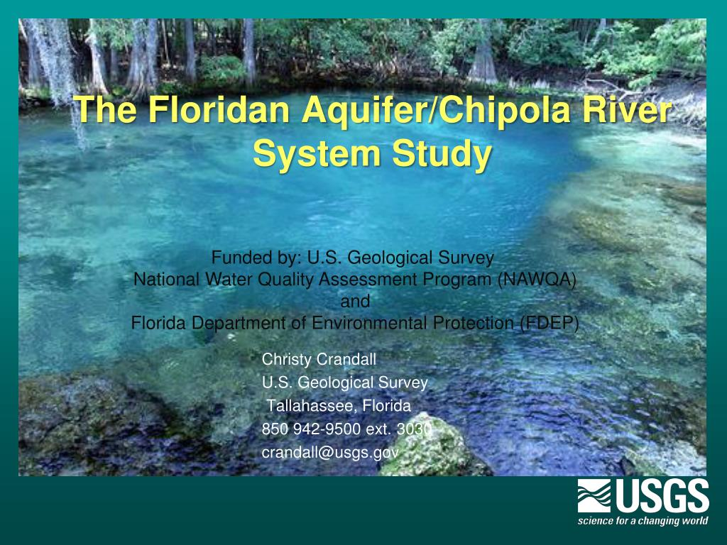 the floridan aquifer chipola river system study l.