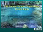 the floridan aquifer chipola river system study
