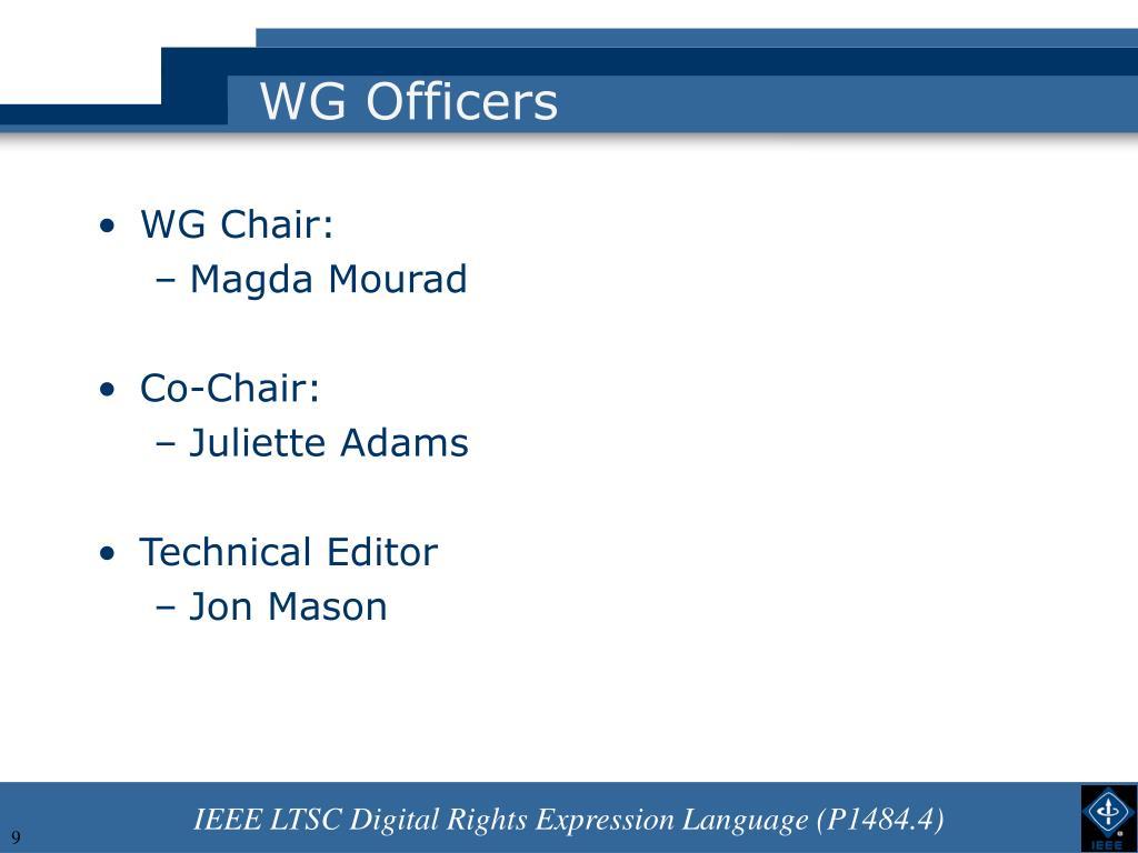 WG Officers