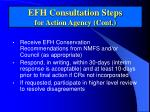 efh consultation steps for action agency cont