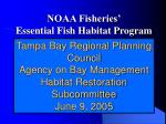 noaa fisheries essential fish habitat program