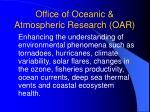 office of oceanic atmospheric research oar