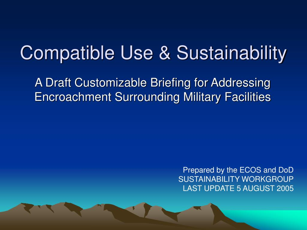 compatible use sustainability l.