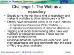 challenge 1 the web as a repository