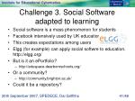 challenge 3 social software adapted to learning