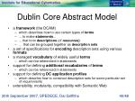 dublin core abstract model
