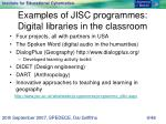 examples of jisc programmes digital libraries in the classroom