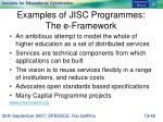 examples of jisc programmes the e framework