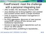 feedforward meet the challenge with a personal integrating tool
