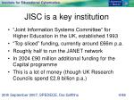 jisc is a key institution