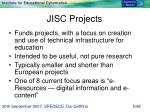jisc projects