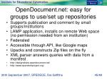 opendocument net easy for groups to use set up repositories