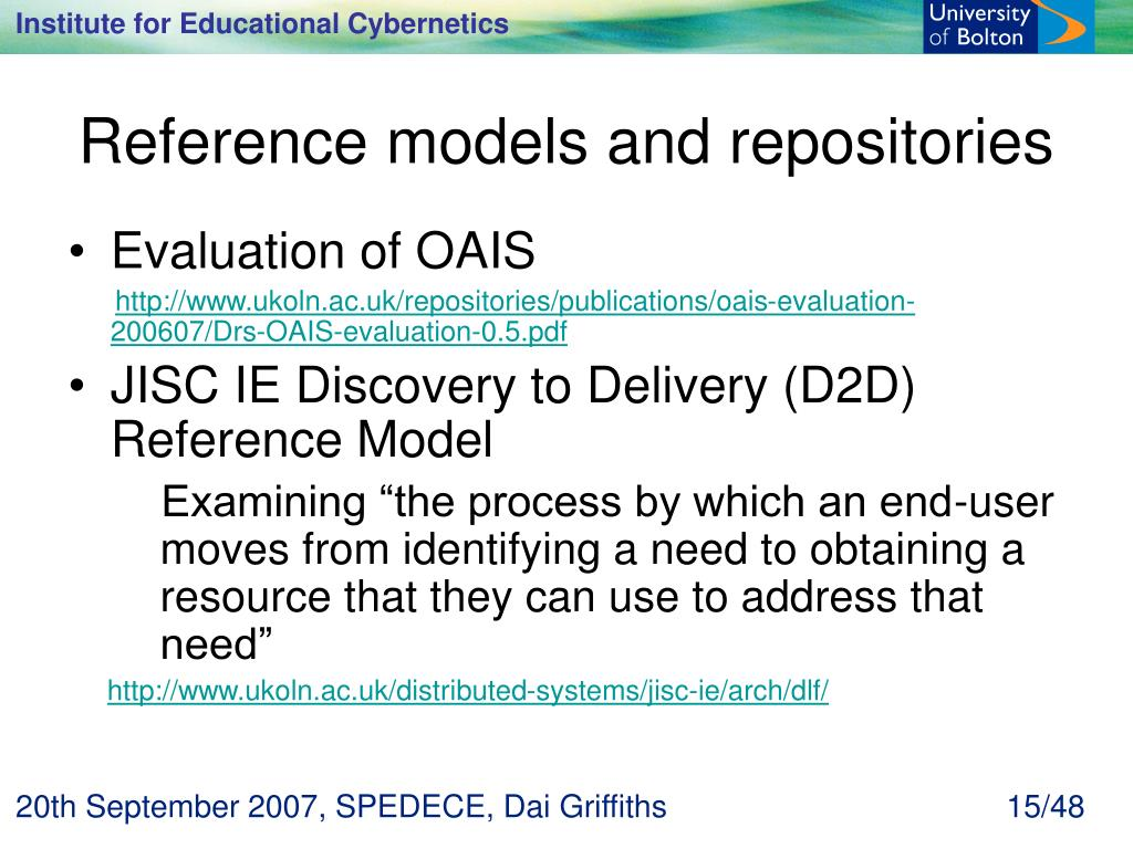 Reference models and repositories