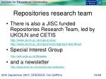 repositories research team