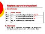 reglarea granulocitopoiezei