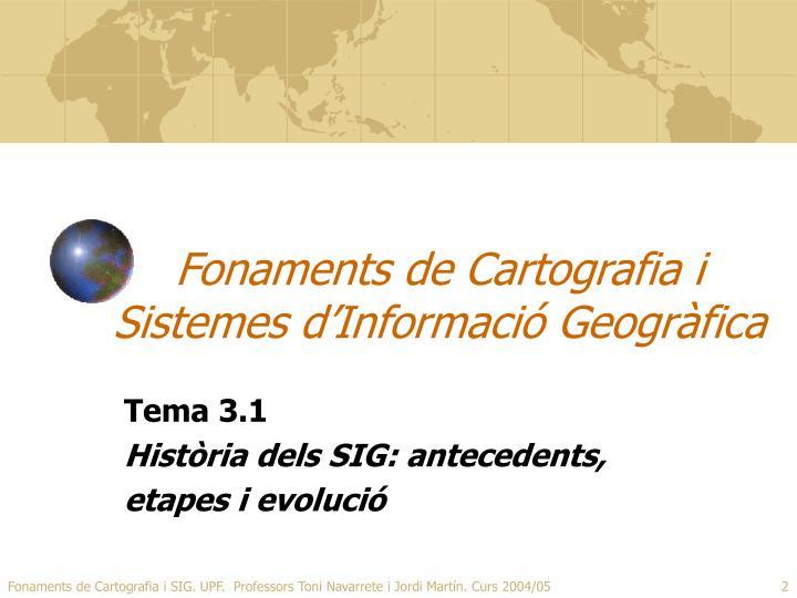 Fonaments de cartografia i sistemes d informaci geogr fica1