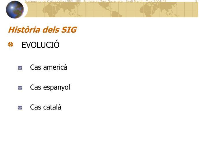 Història dels SIG
