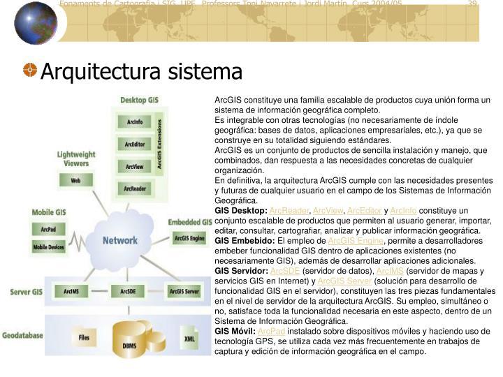Arquitectura sistema