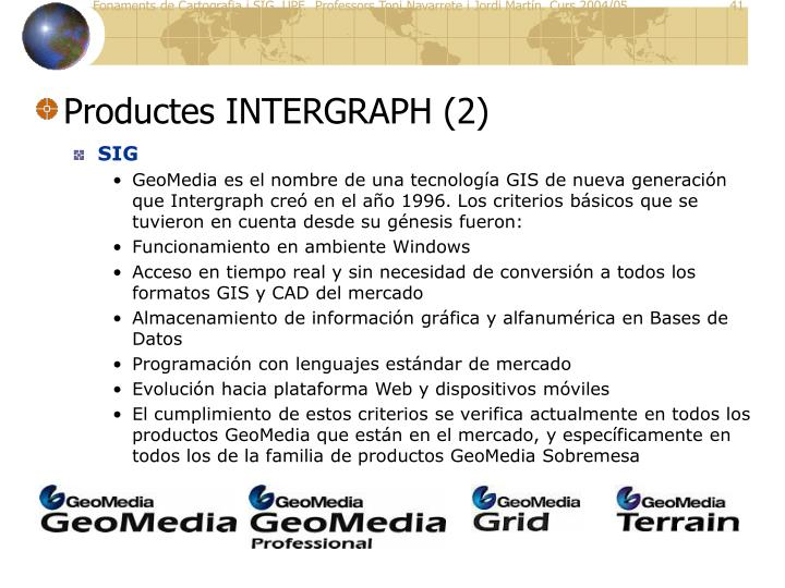 Productes INTERGRAPH (2)