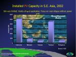 installed pv capacity in s e asia 2002