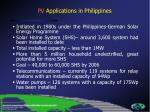pv applications in philippines