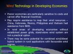 wind technology in developing economies