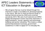 apec leaders statements on ict education in bangkok