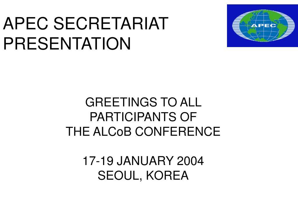 apec secretariat presentation l.