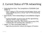 2 current status of fta networking