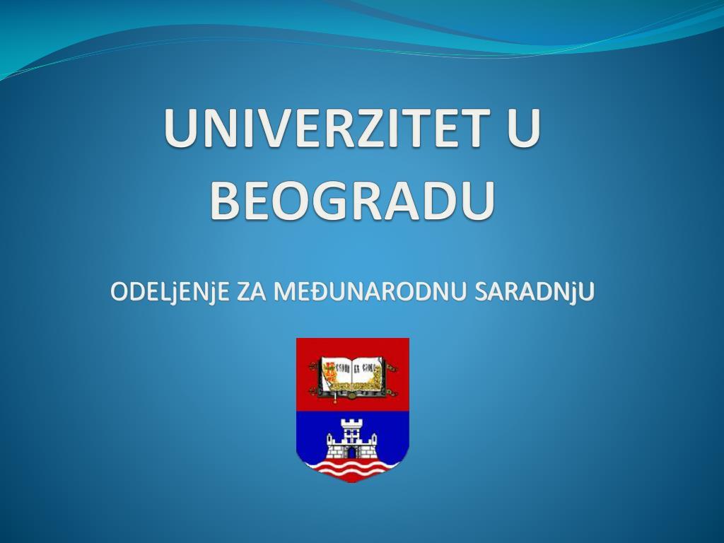 univerzitet u beogradu l.