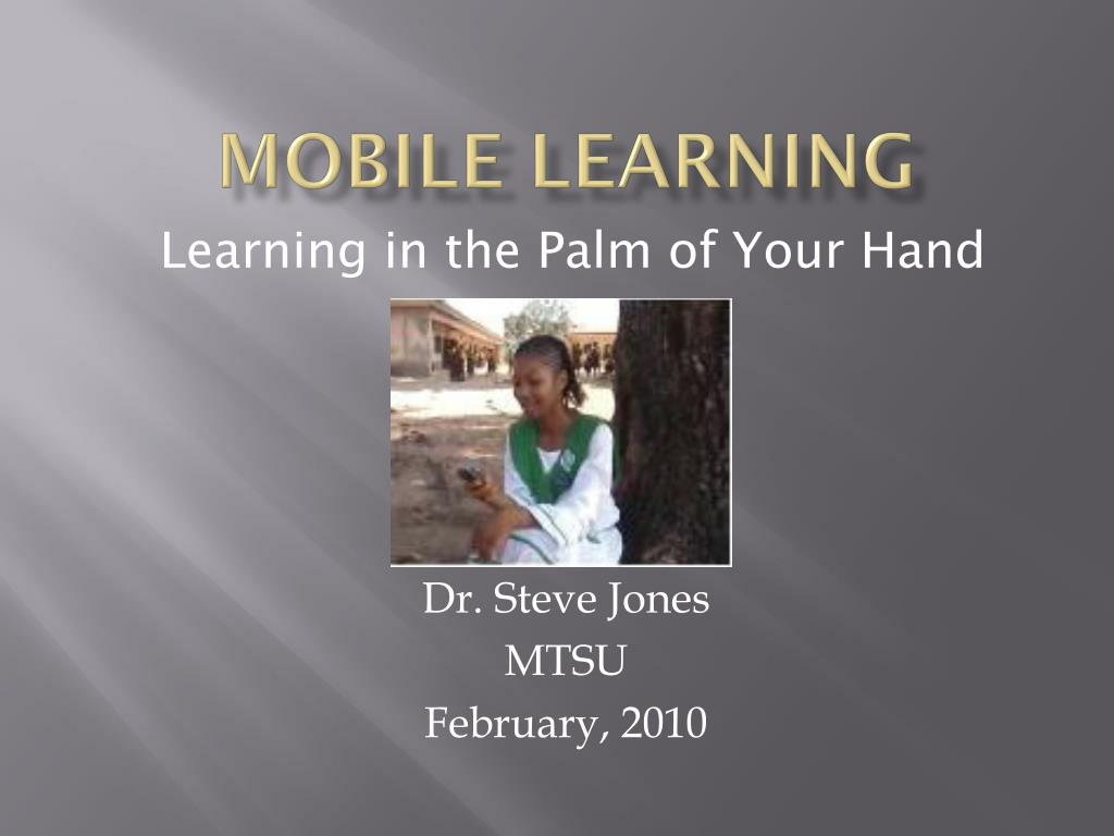 mobile learning l.