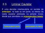 2 3 liminar cautelar