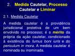 2 medida cautelar processo cautelar e liminar