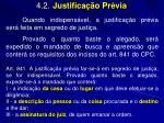 4 2 justifica o pr via