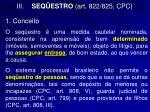 iii seq estro art 822 825 cpc