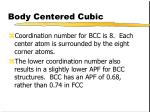 body centered cubic7