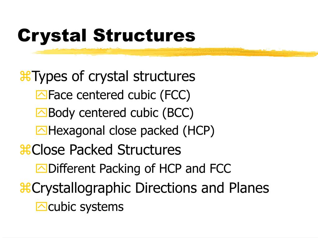 crystal structures l.